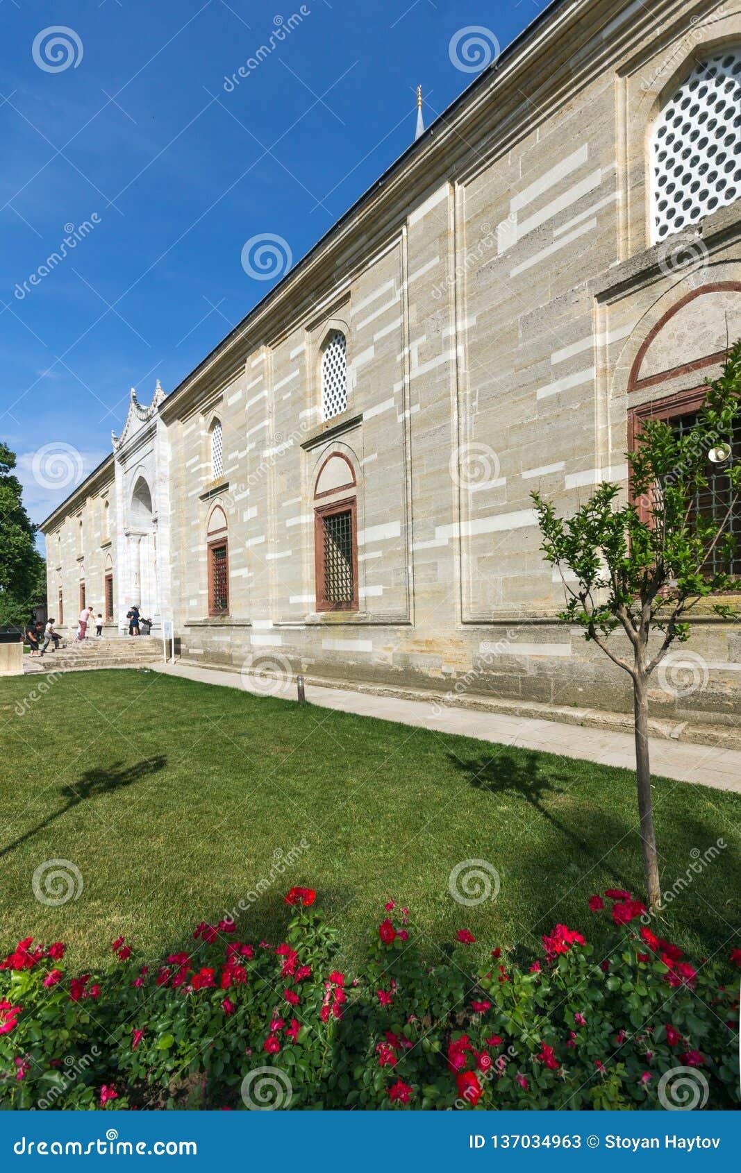Outside widok Selimiye meczet Budował między 1569 i 1575 w mieście Edirne, Wschodni Thrace, Turke