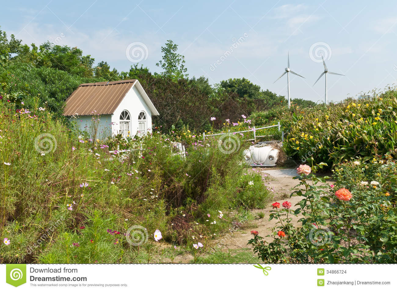On the outskirts of scenery stock images image 34866724 - Countryside dream gardens ...
