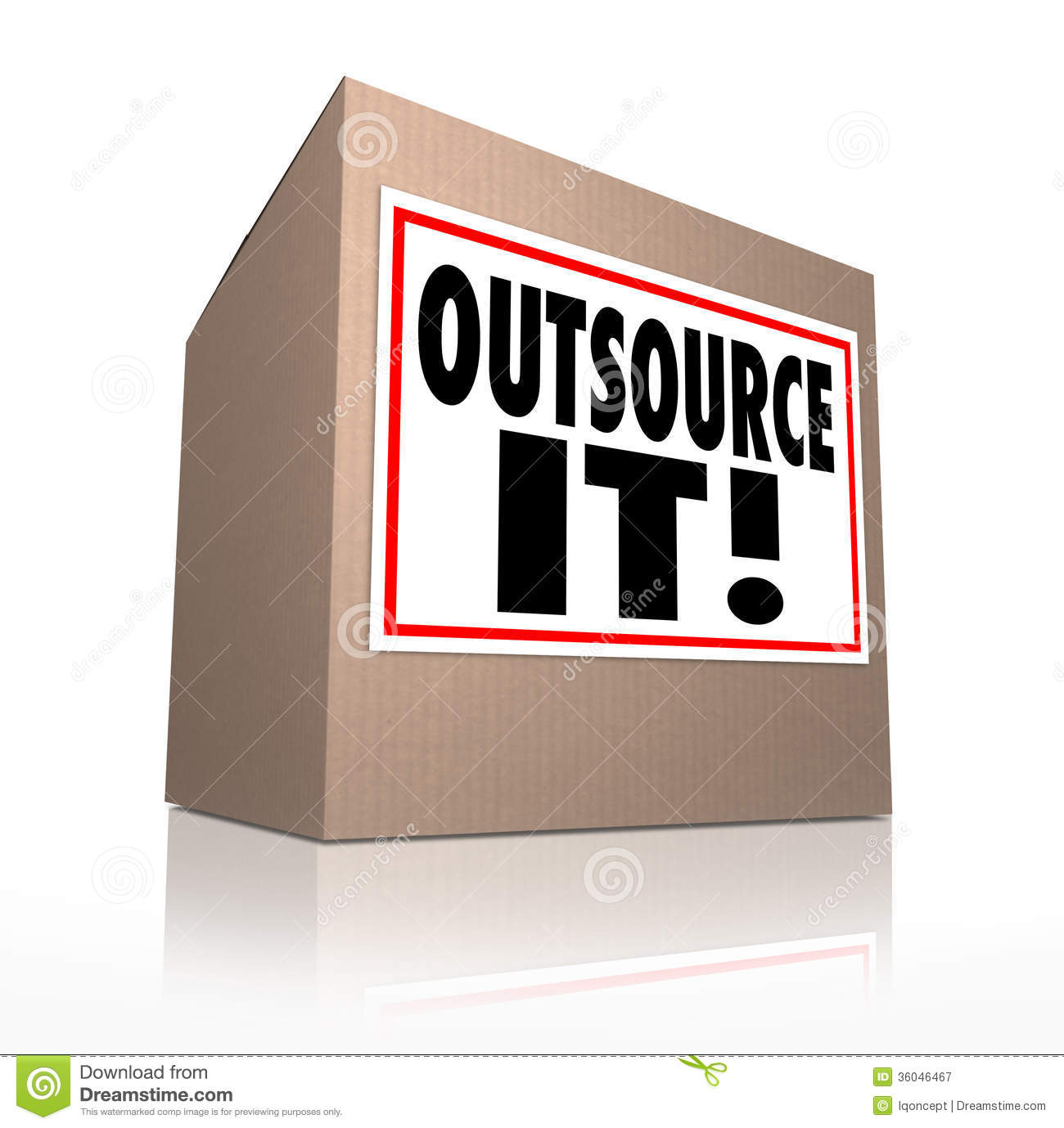 outsource it words cardboard box shipping jobs labor workforce outsource it words cardboard box shipping jobs labor workforce