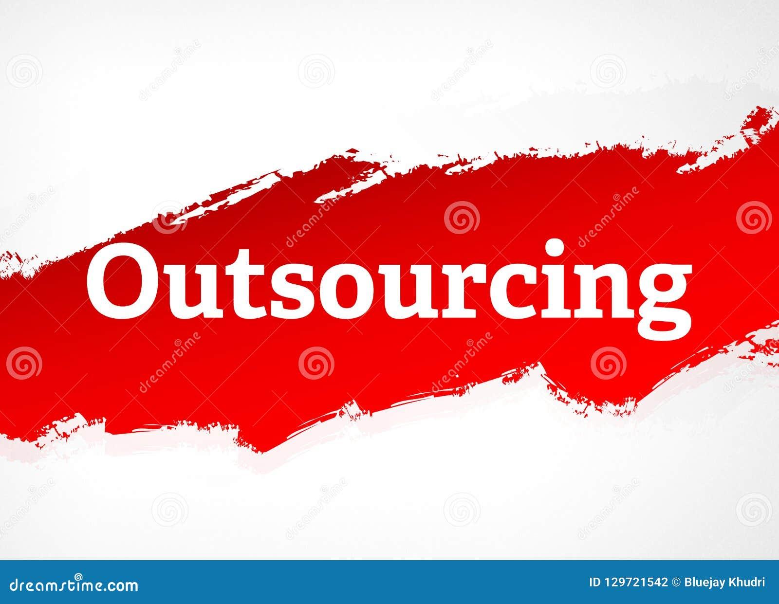Outsourcing rewolucjonistki muśnięcia tła Abstrakcjonistyczna ilustracja
