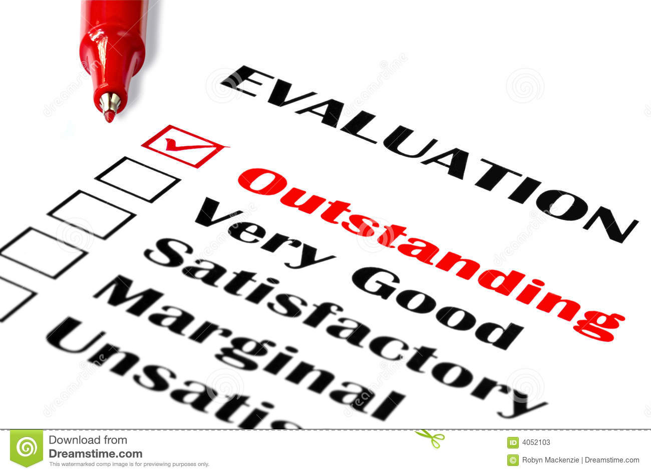 Outstanding Evaluation Stock  Outstanding Clip Art