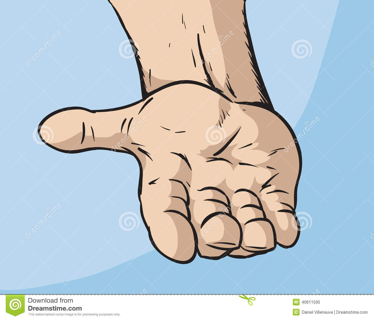 Outstretched Hand Stock Vector - Image: 40611595