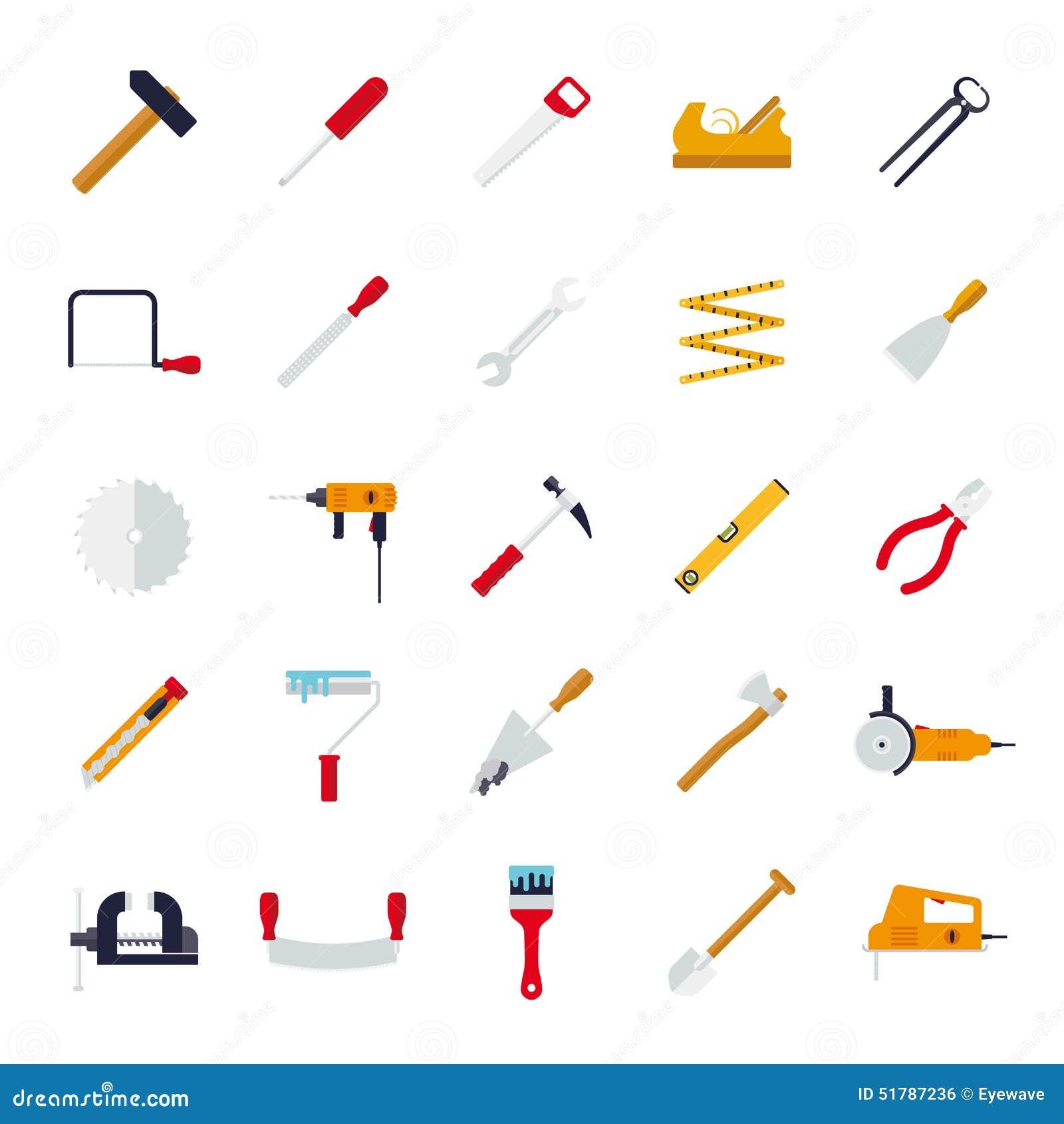 Ouvrage de la collection plate d icônes de vecteur de conception d outils