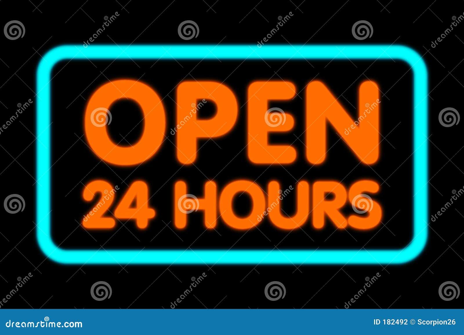 Ouvrez 24 heures