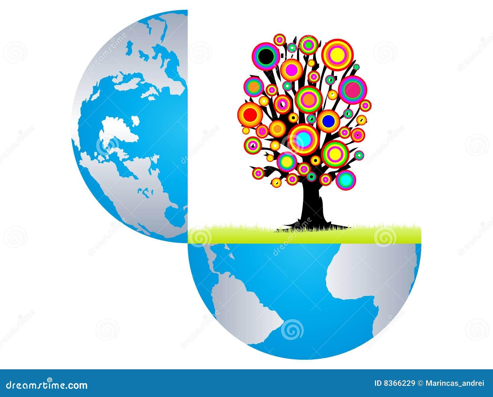 Ouvrez l 39 arbre color de witn de la terre l 39 int rieur for L interieur de la terre