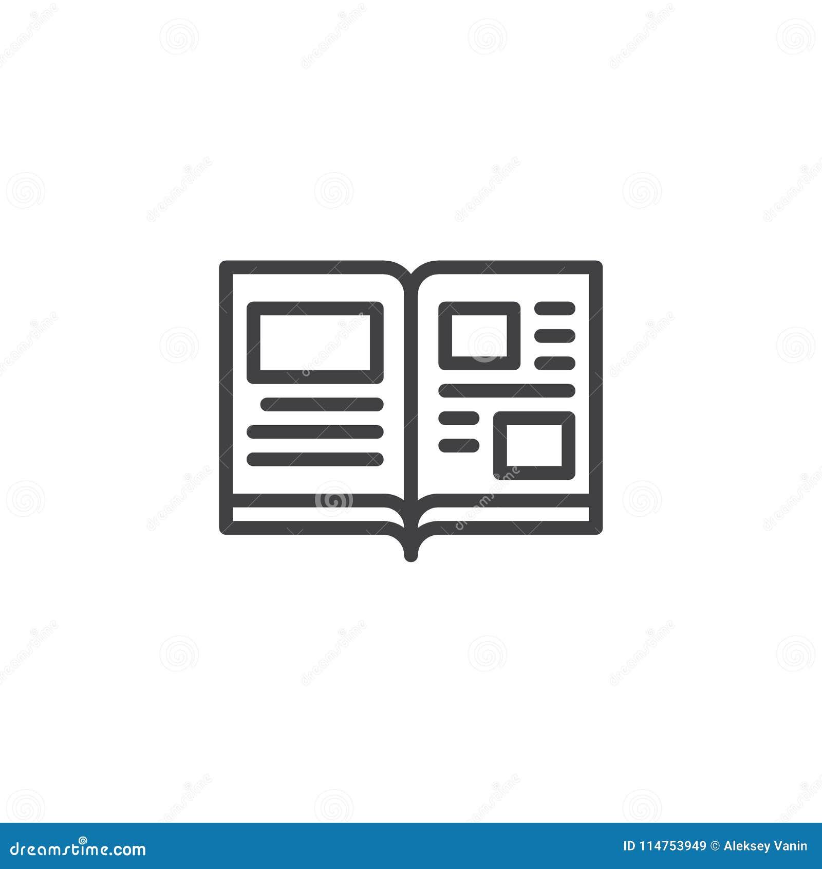 Ouvrez L Icone D Ensemble De Pages De Livre Illustration De
