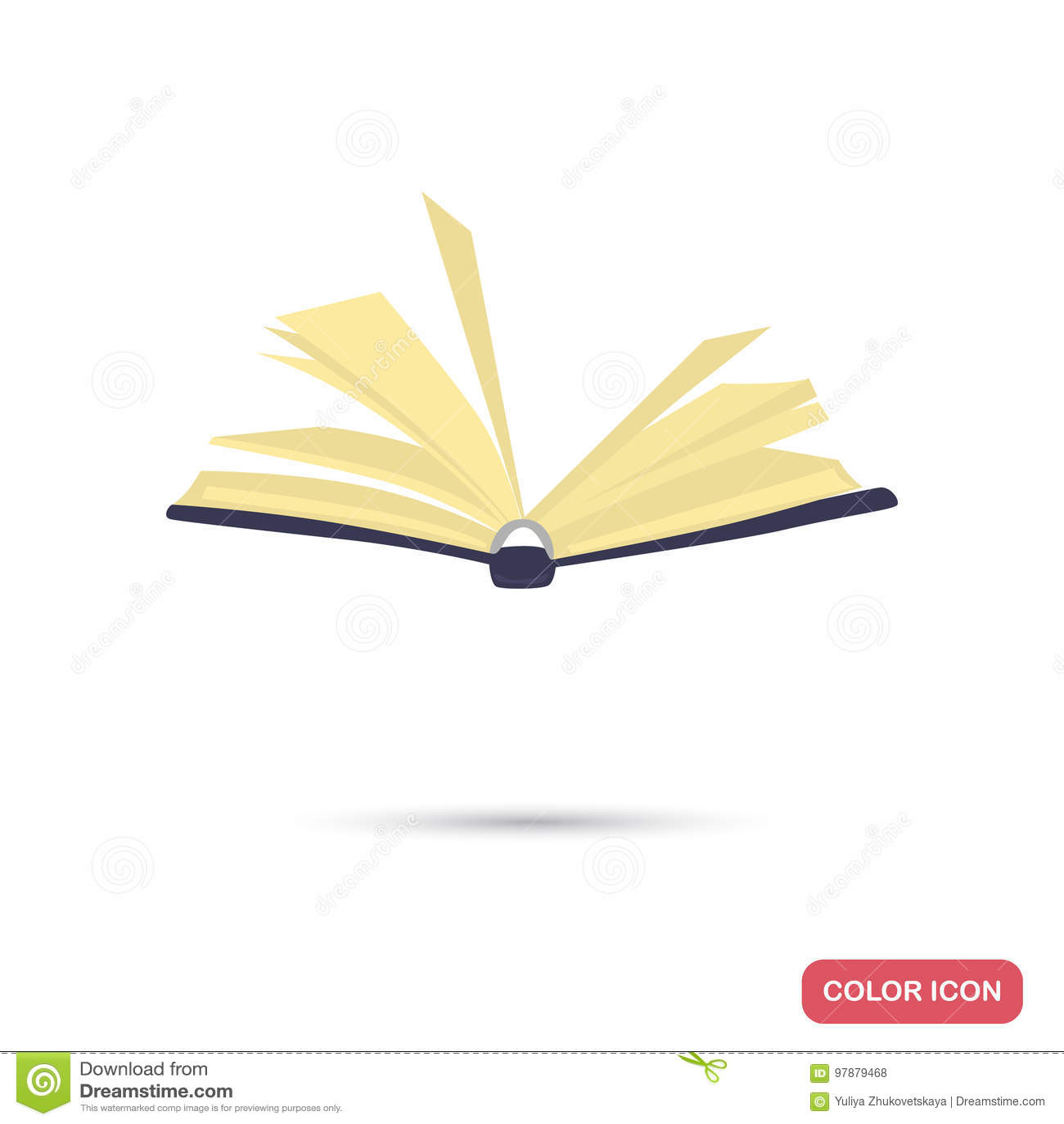 Ouvrez L Icone Plate De Couleur De Livre Pour Le Web Et La