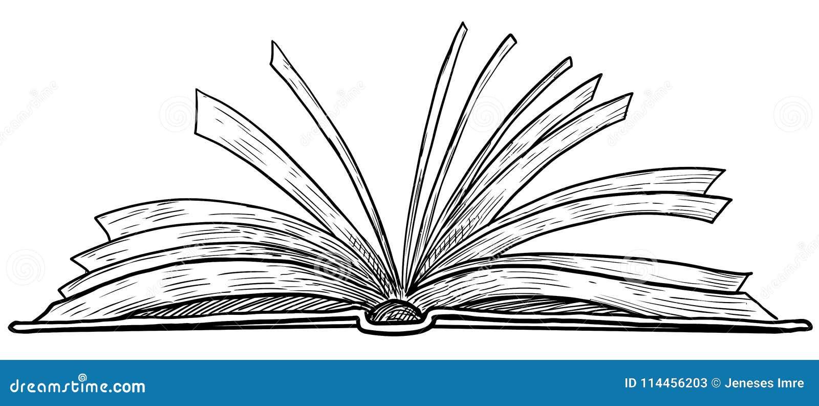 Ouvrez L Illustration De Livre Dessin Gravure Encre