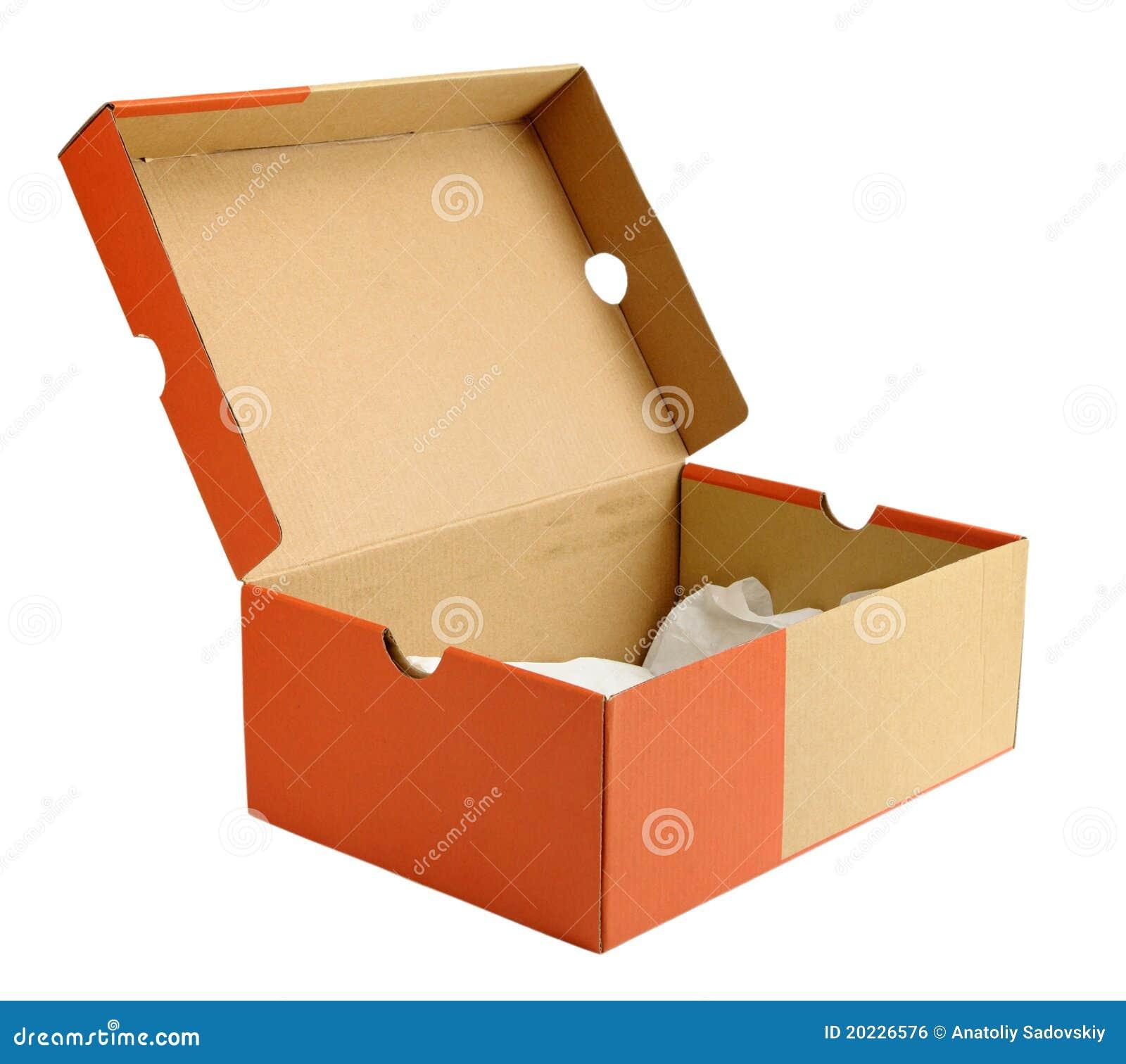 Ouvrez la bo te en carton vide de chaussure image libre de droits image 20 - La boite a chaussure ...
