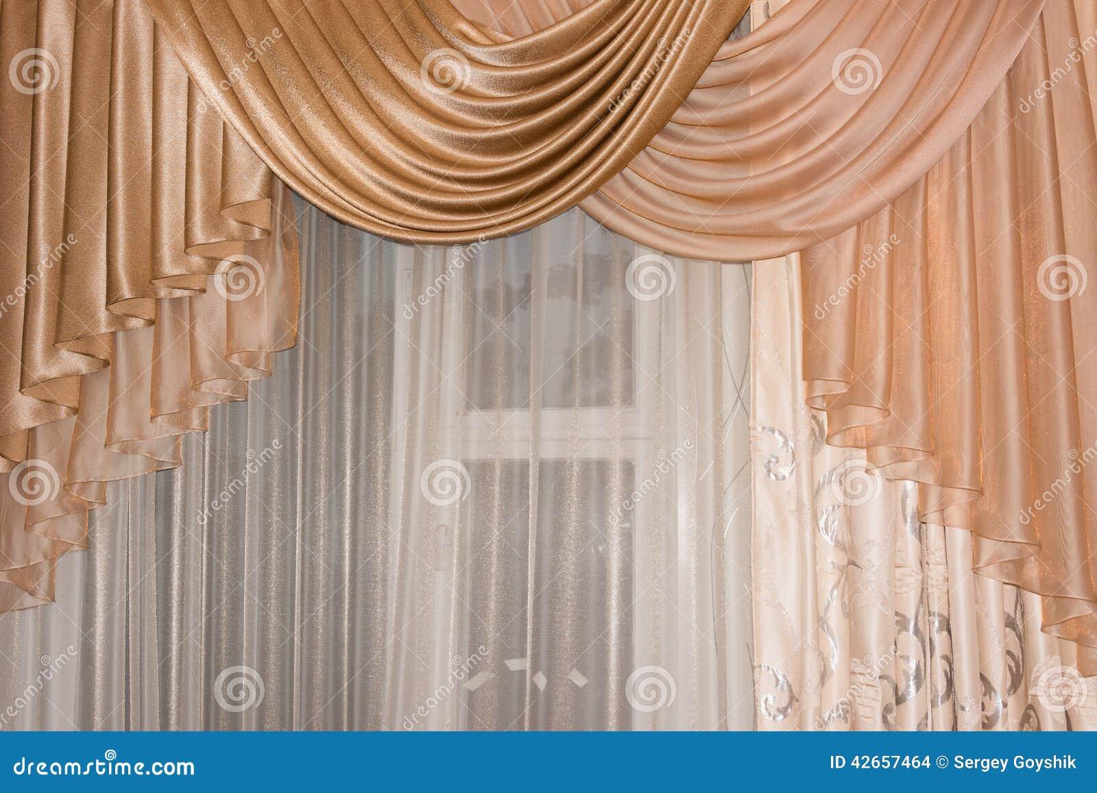 ouvrez la couleur d 39 or de lambrequin portiere rideau. Black Bedroom Furniture Sets. Home Design Ideas