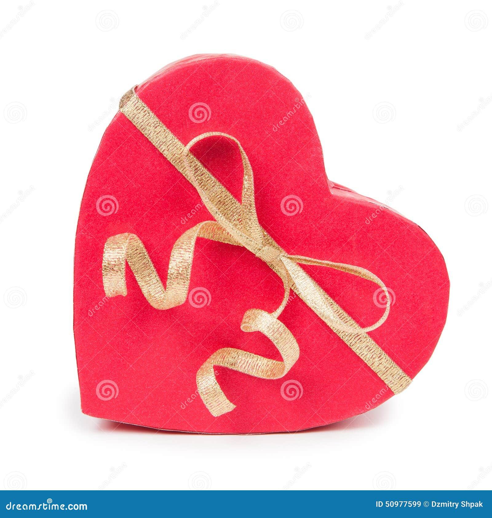 Ouvrez le boîte-cadeau dans la forme de coeur avec l arc