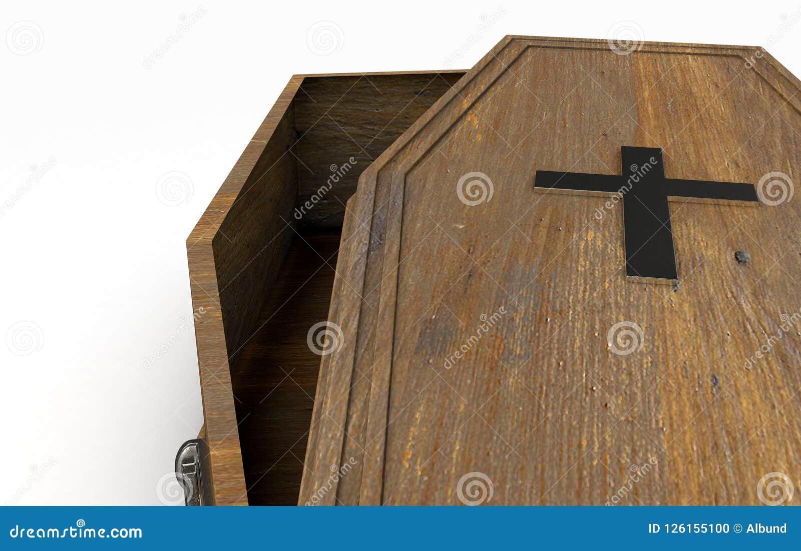 Ouvrez le cercueil et le crucifix