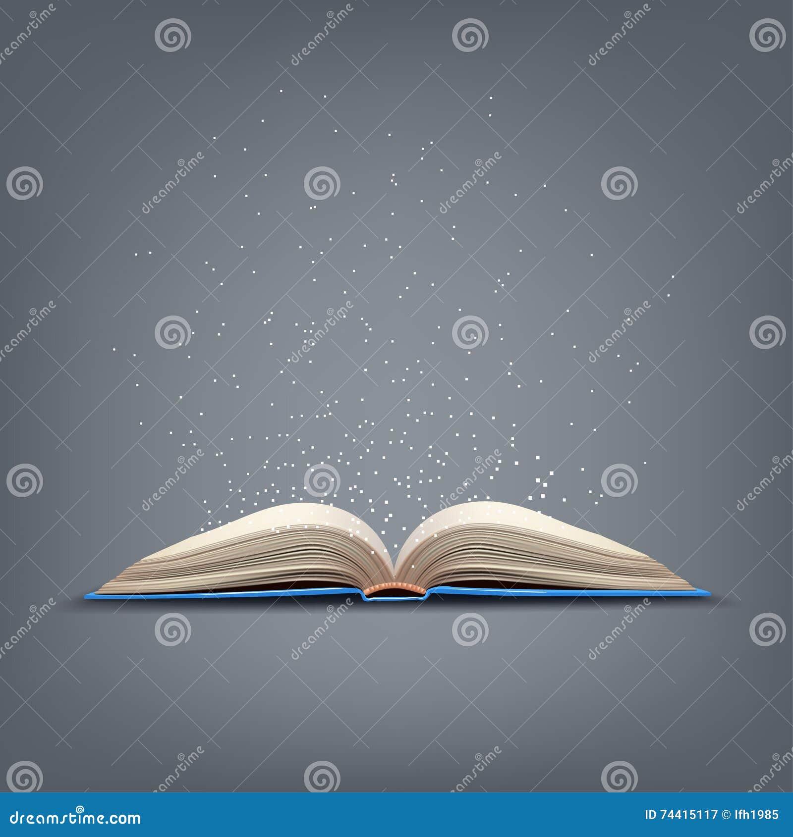 Ouvrez Le Livre Bleu Illustration De Vecteur Illustration