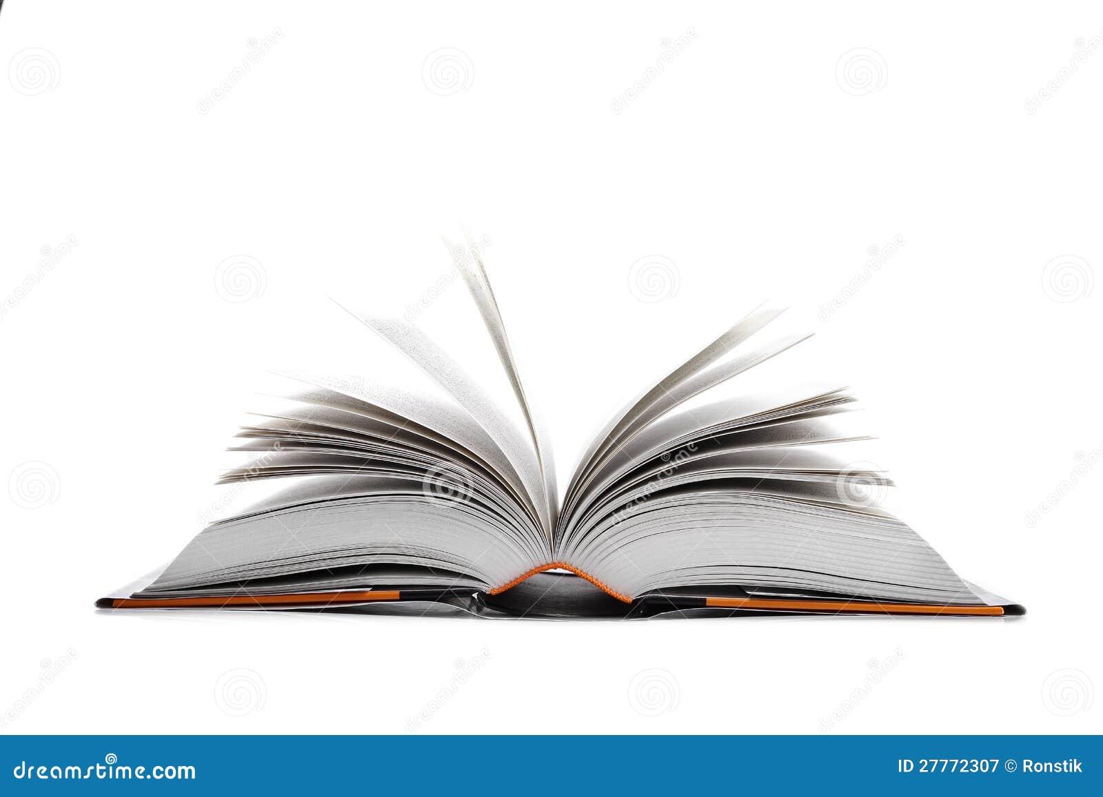 Ouvrez le livre sur le blanc