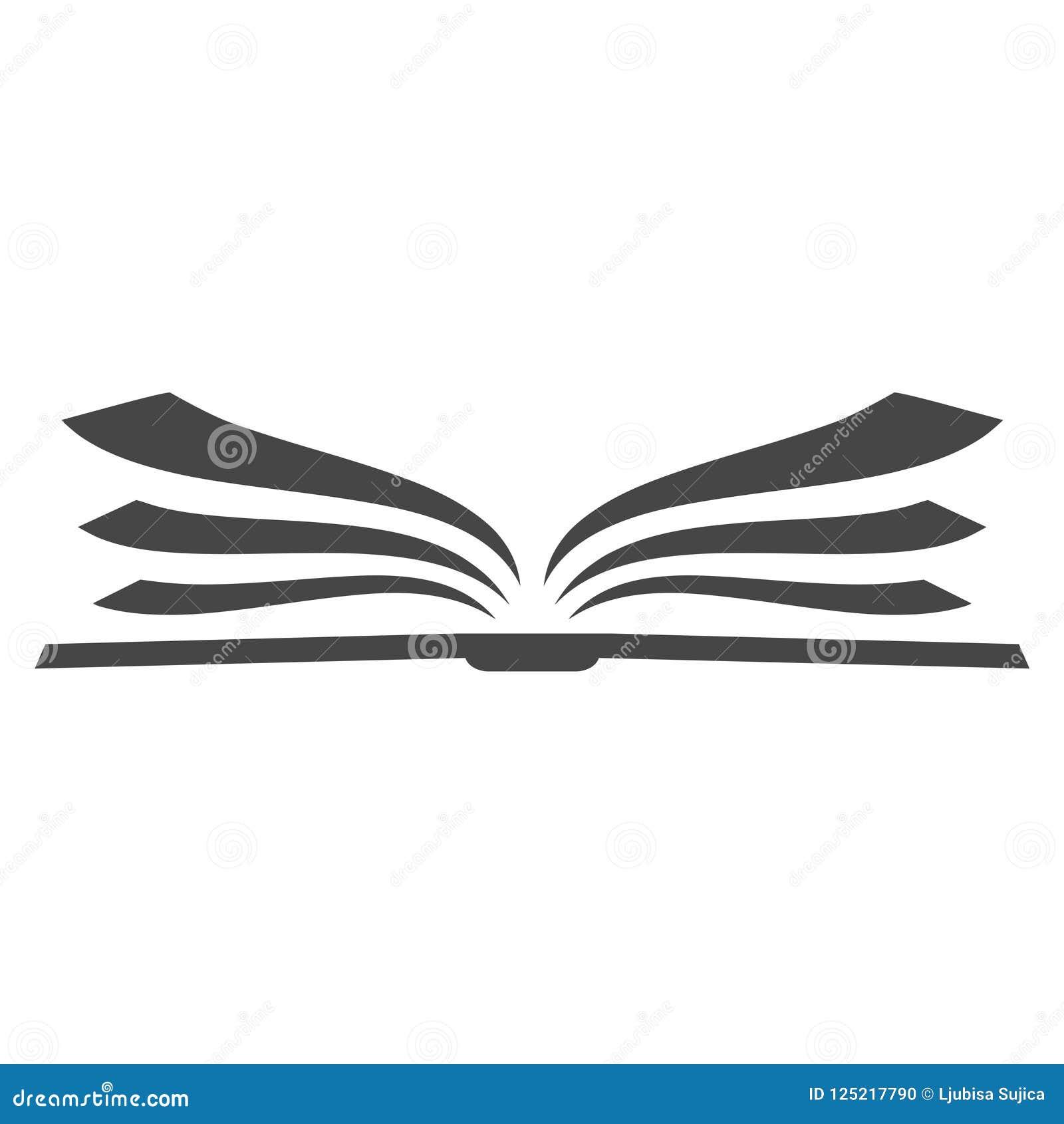 Ouvrez Le Logo De Livre Icone De Livre Logo Simple De