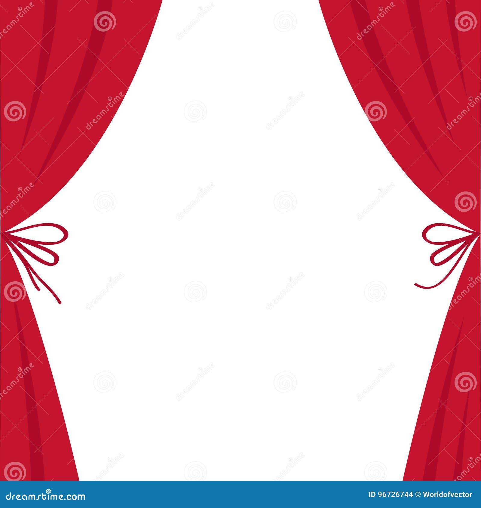 Ouvrez Le Rideau En Soie Rouge De Luxe En Théâtre Détape Rideaux En