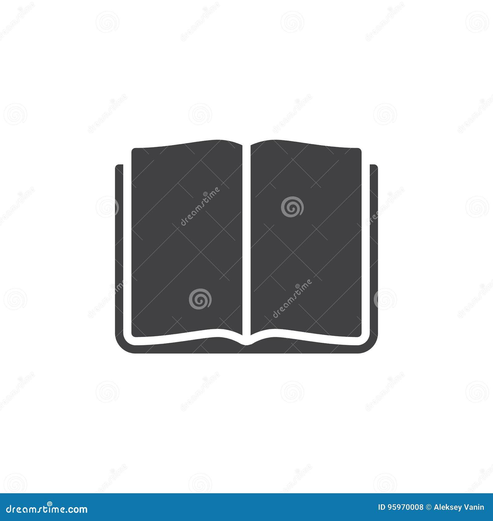 Ouvrez Le Vecteur D Icone De Livre Signe Plat Rempli