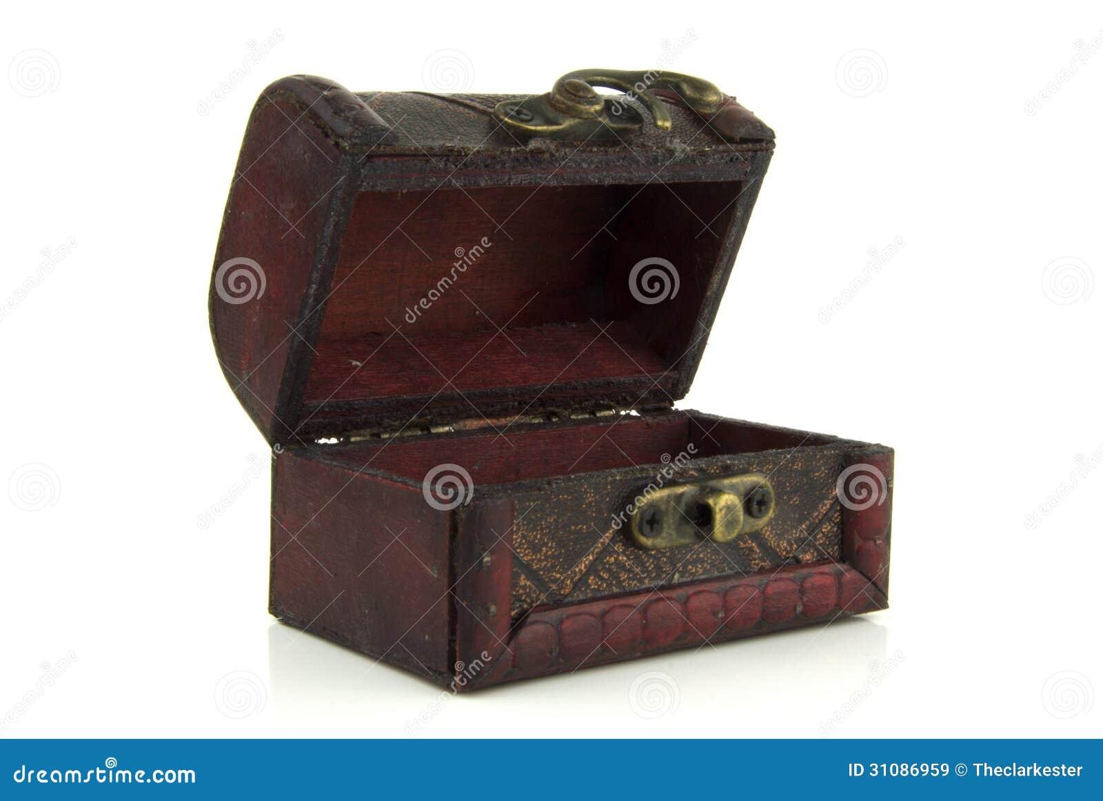 ouvrez le vieux coffre au tr sor en bois images libres de droits image 31086959. Black Bedroom Furniture Sets. Home Design Ideas