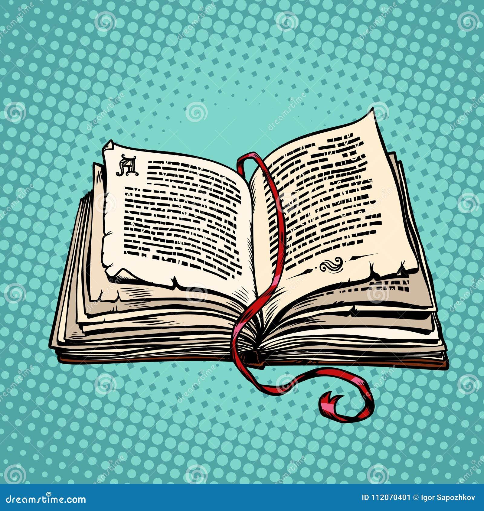 Ouvrez Le Vieux Livre Avec Le Texte Le Conte De Fees Ou Le