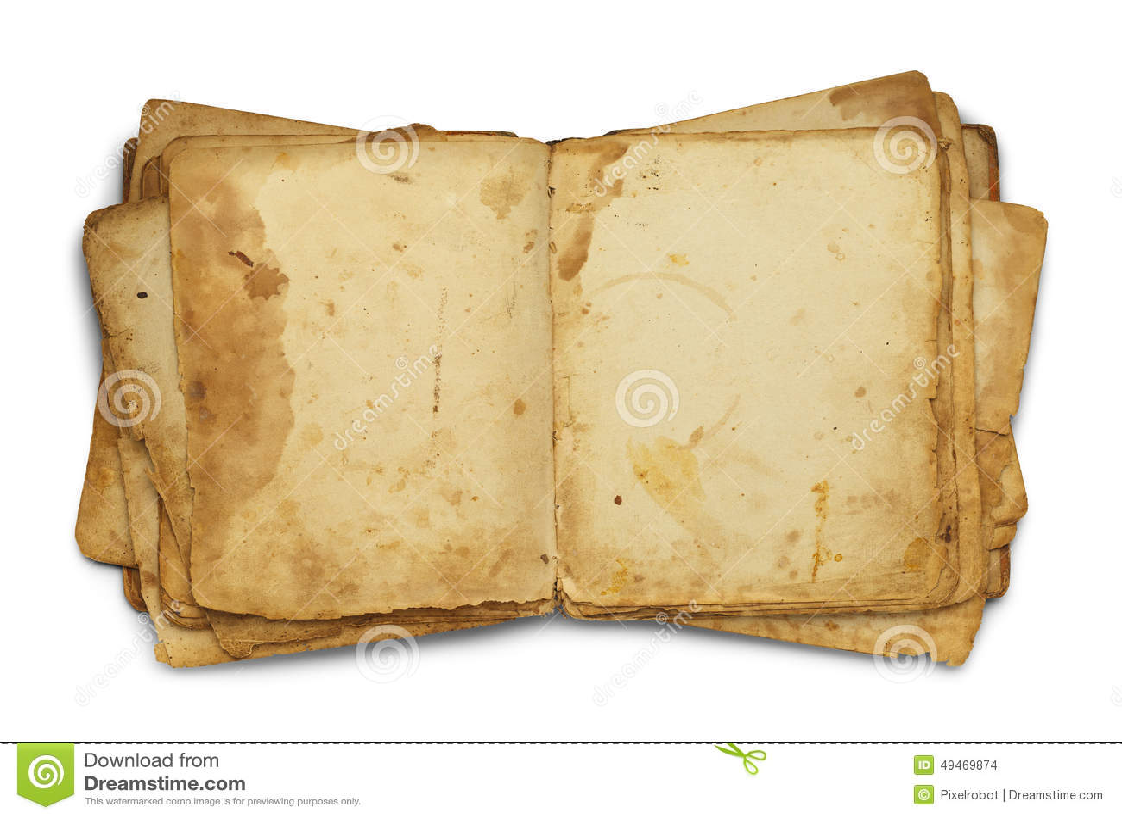 Ouvrez le vieux livre malpropre