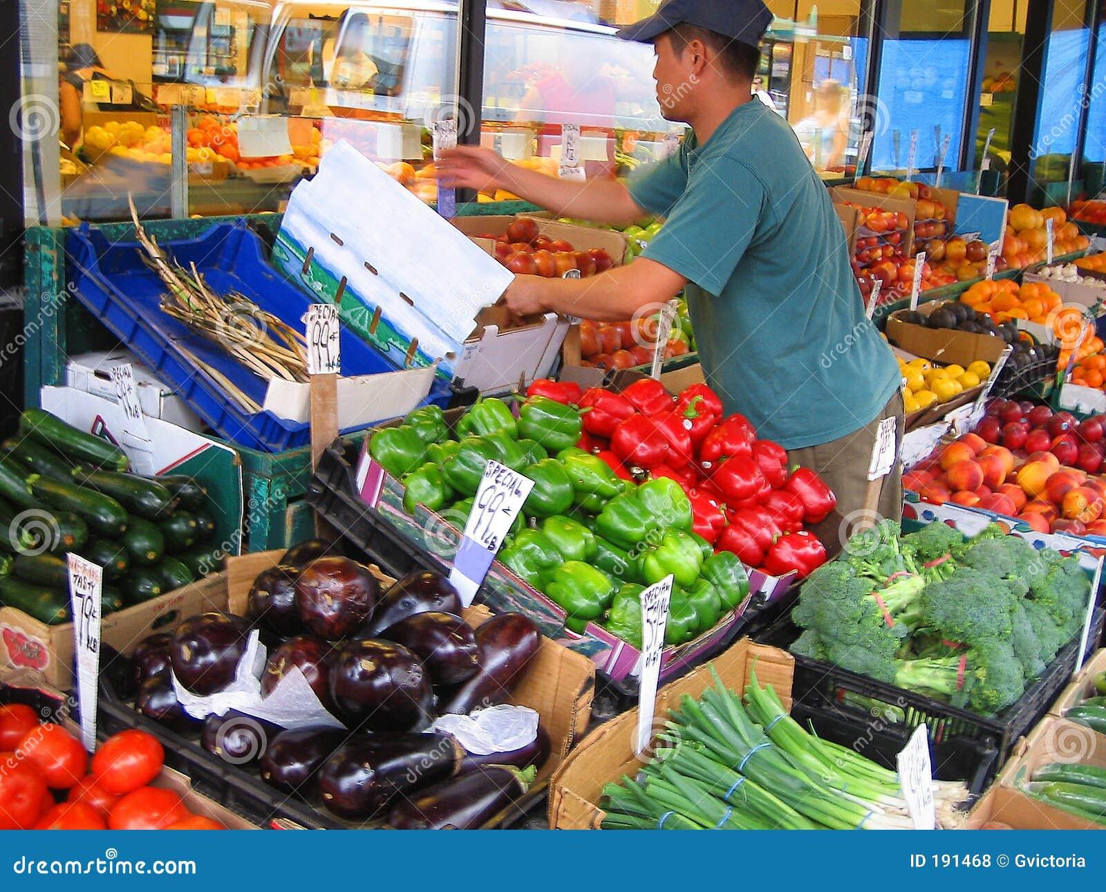 Ouvrier du marché