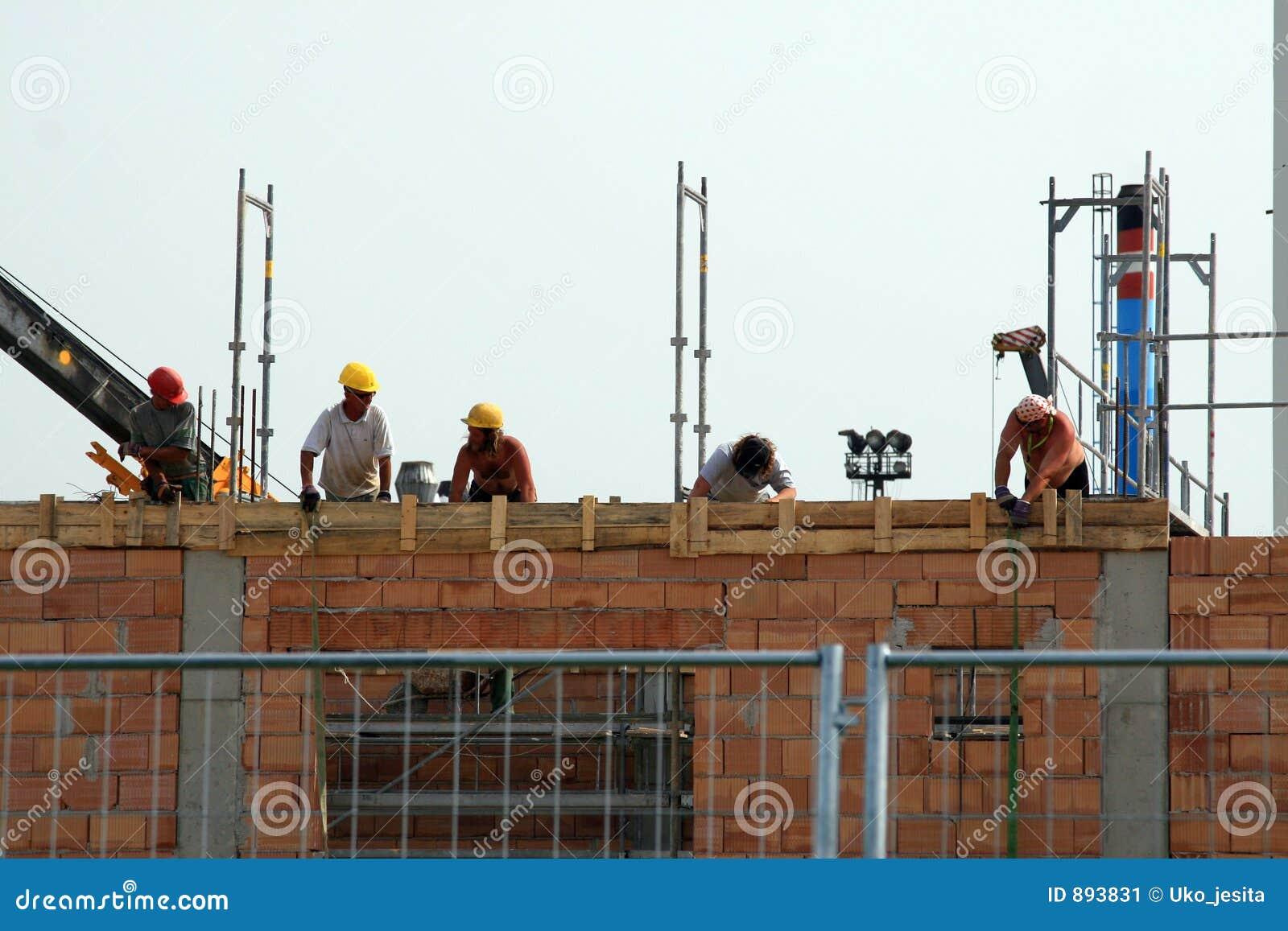 Ouvriers de construction de construction