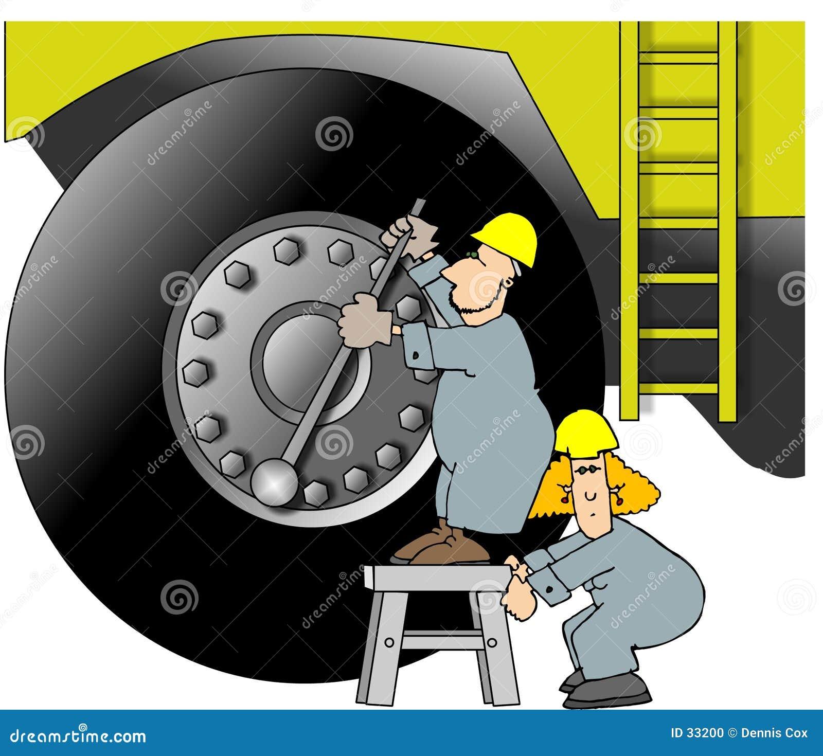 Ouvriers lourds de matériel