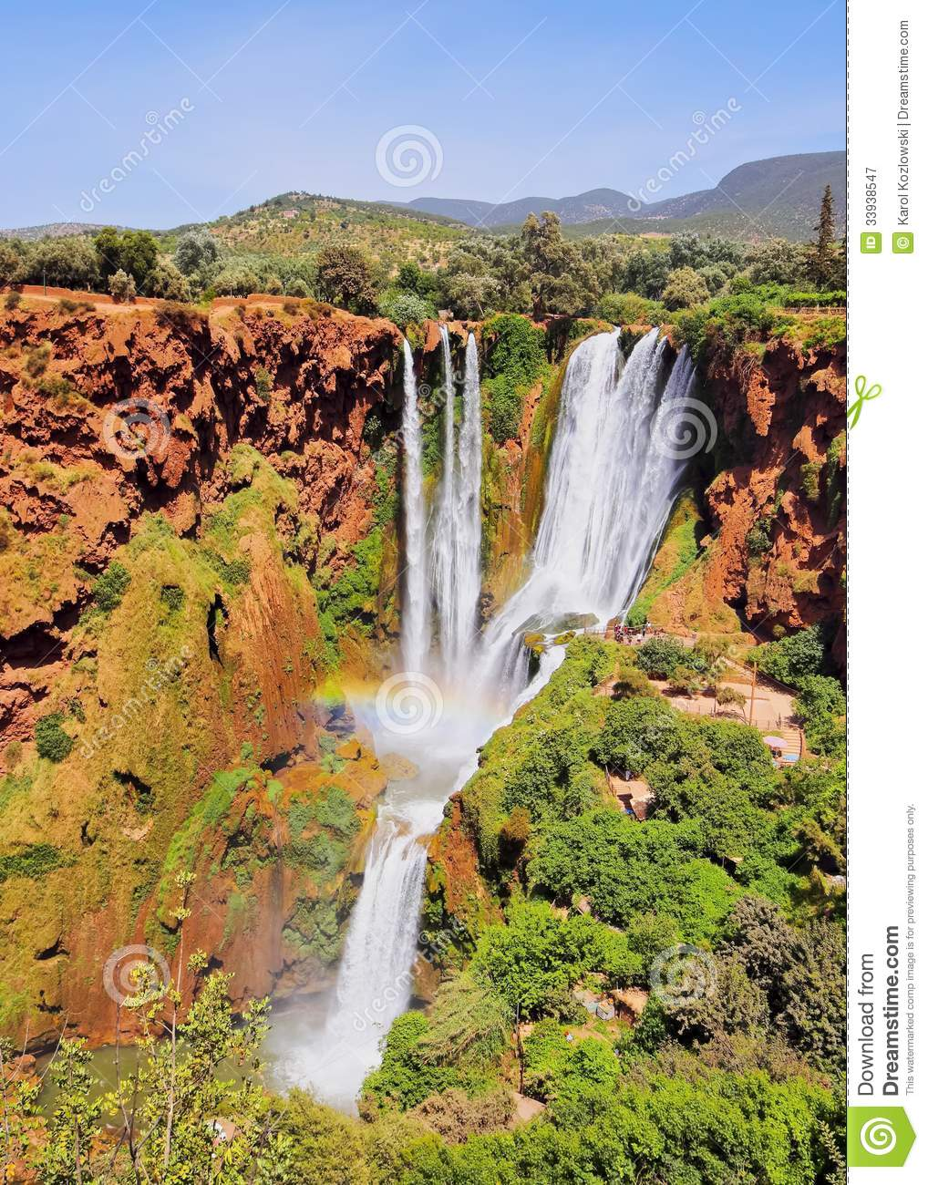 Ouzoud Waterfalls In Morocco Royalty Free Stock ...