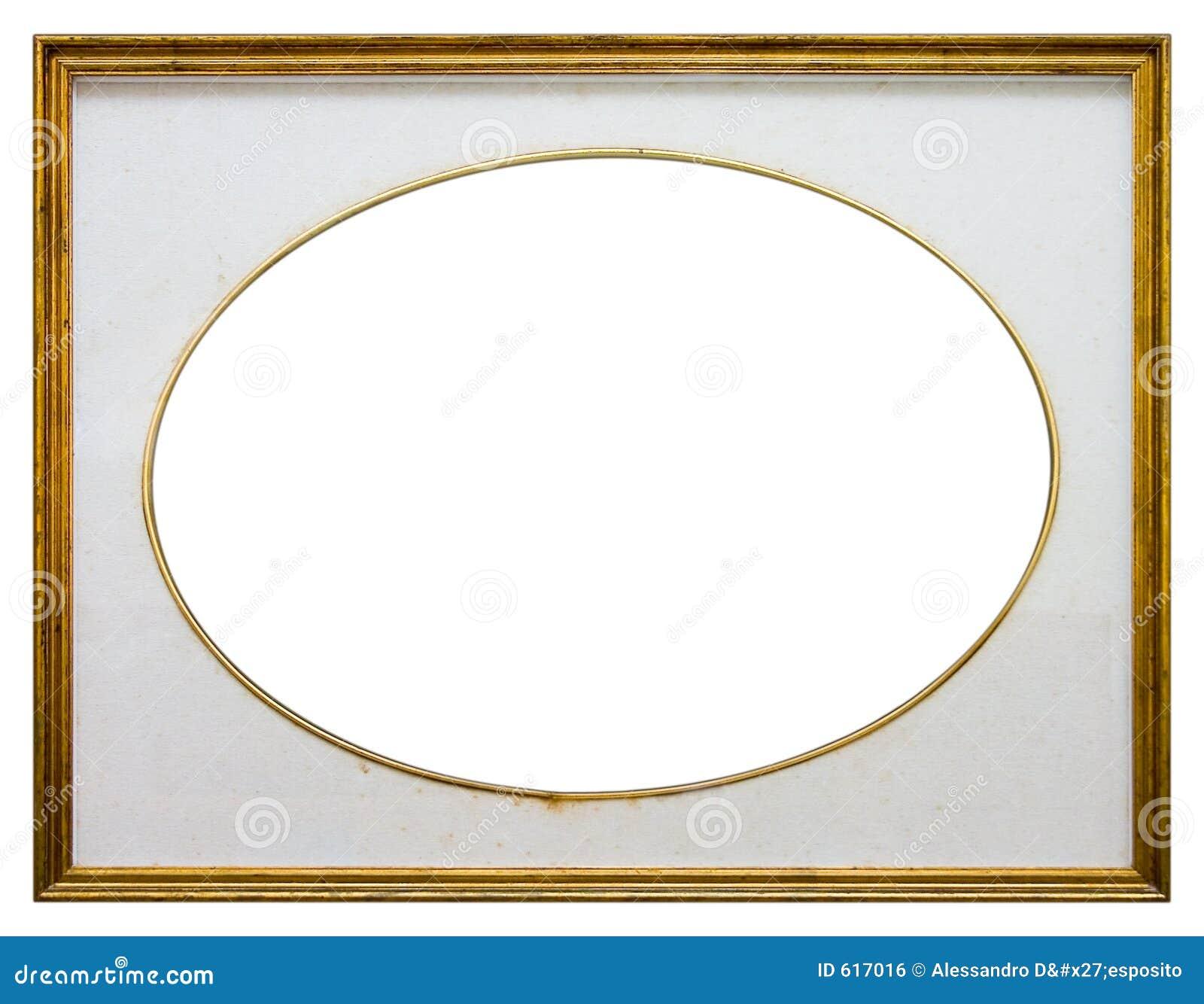Ovaal houten frame