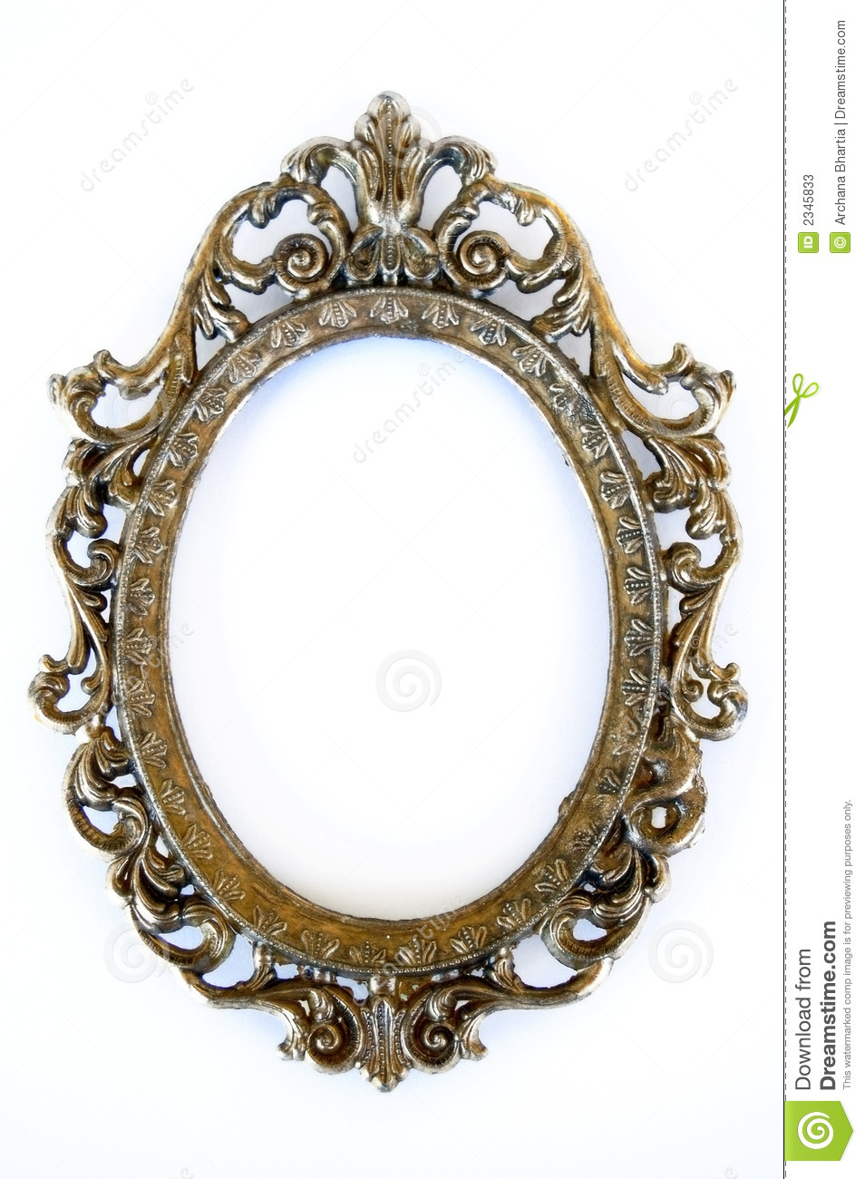 Oval Frame Stock Image Of Background Ornate