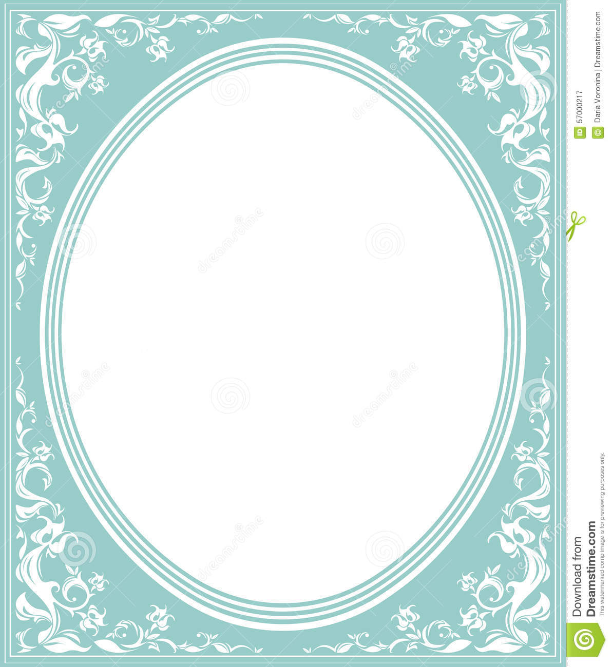 Oval Frame With Elegant Ornament Stock Vector Image