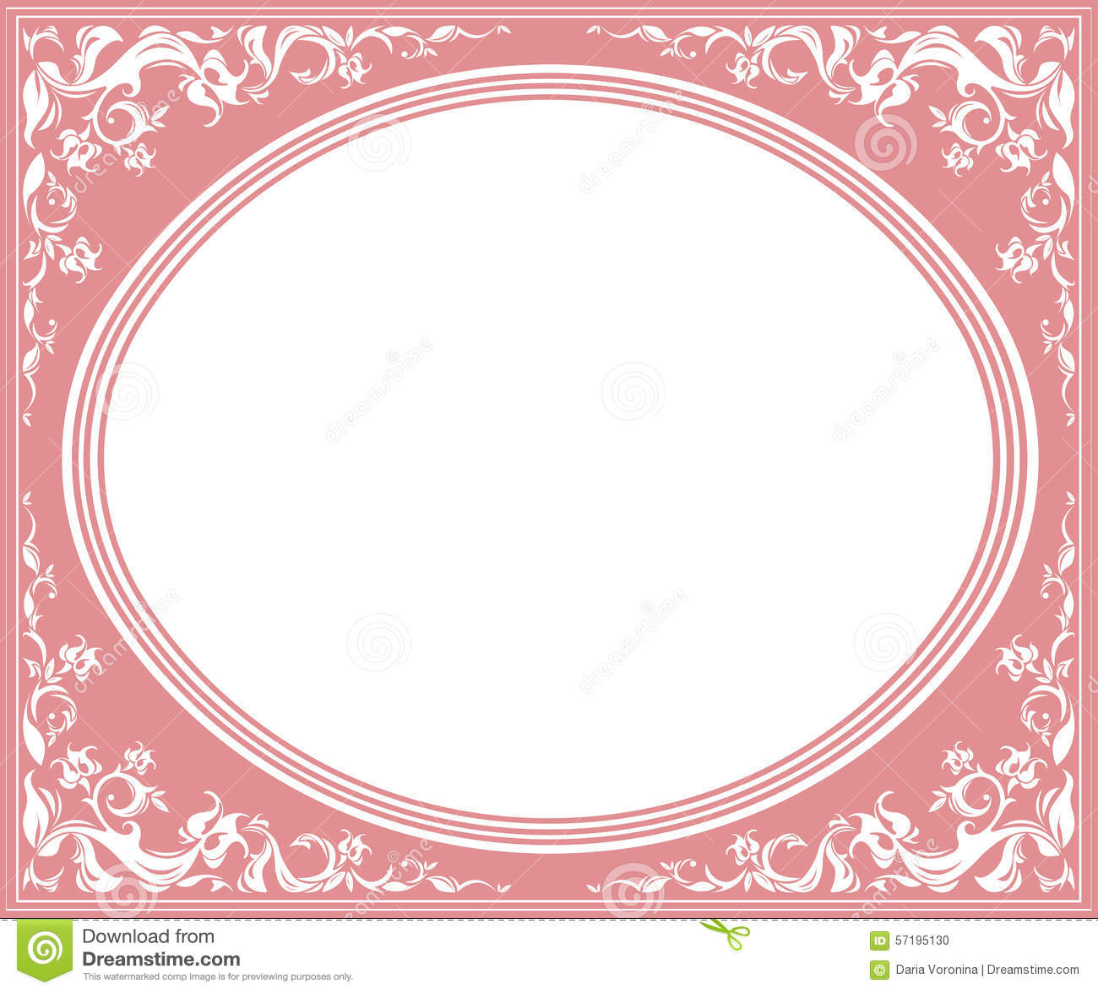 Vintage flower wallpaper designs vintage floral wallpaper - Oval Frame With Elegant Ornament Stock Vector Image