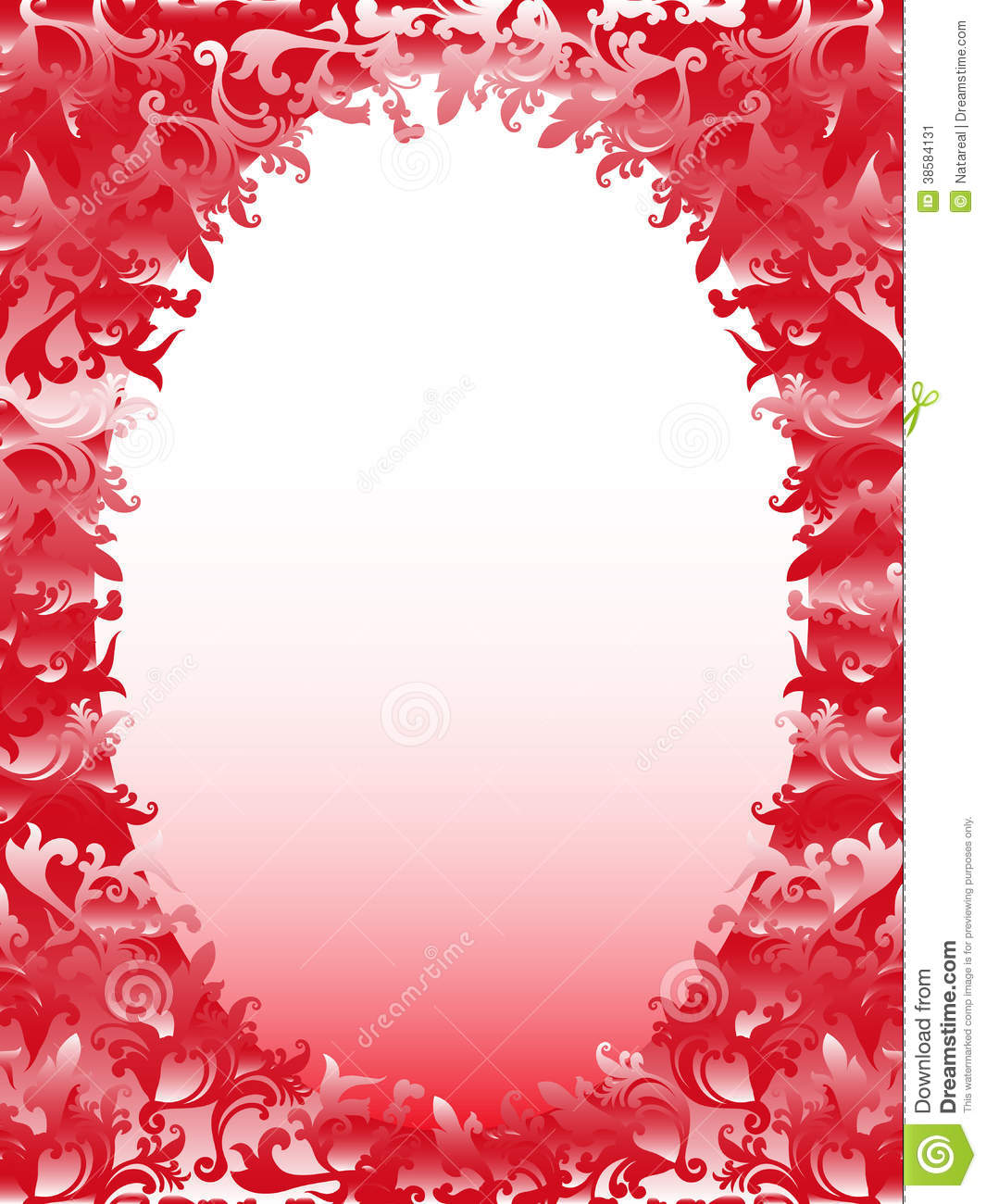 Vertical Oval Frame Clipart Oval Frame With Floral...