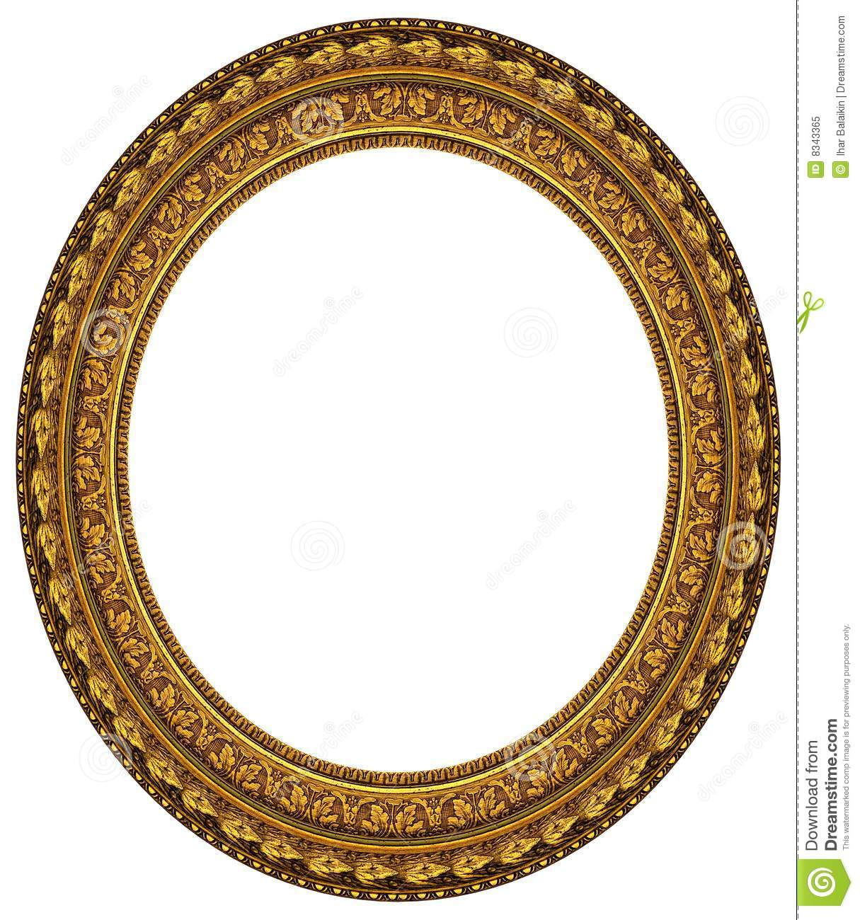 Oval Gold Picture Frame Album Blank