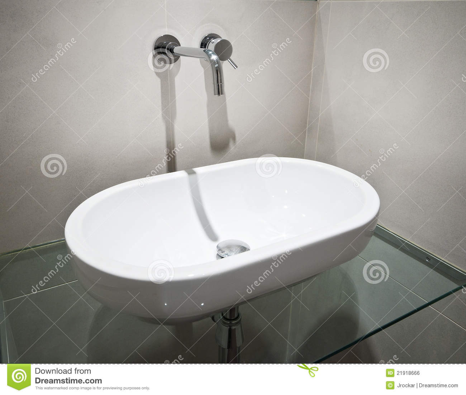 Oval Hand Wash Basin Royalty Free Stock Image Image