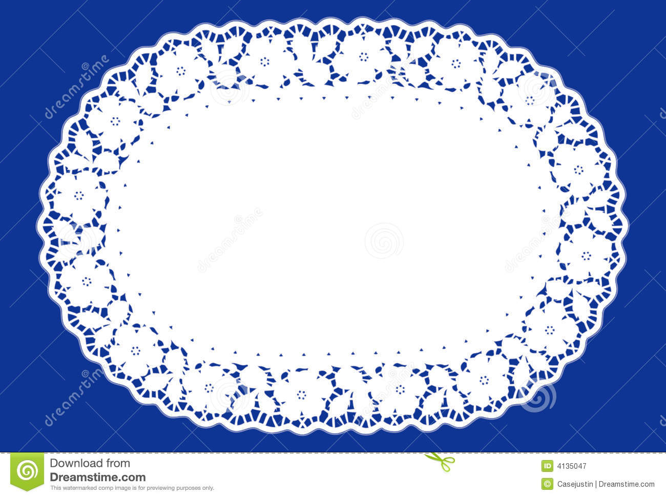 Oval Lace Doily Place Mat Royalty Free Stock Photography