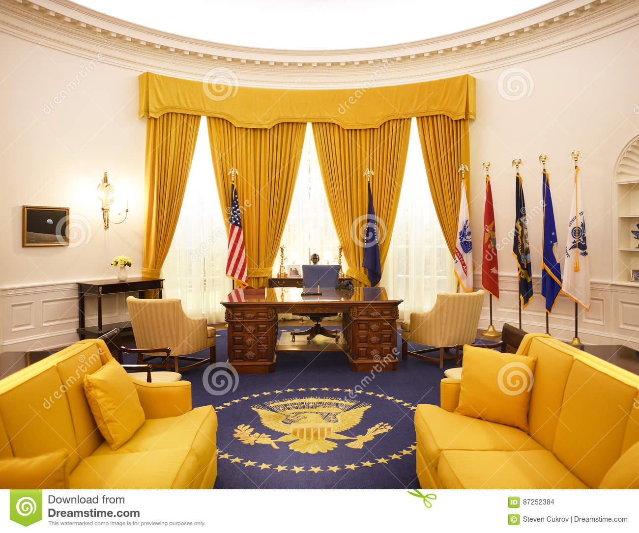 oval office pictures. Oval Office Nixon Library Editorial Stock Image. Image Of Landmark - 87252384 Pictures
