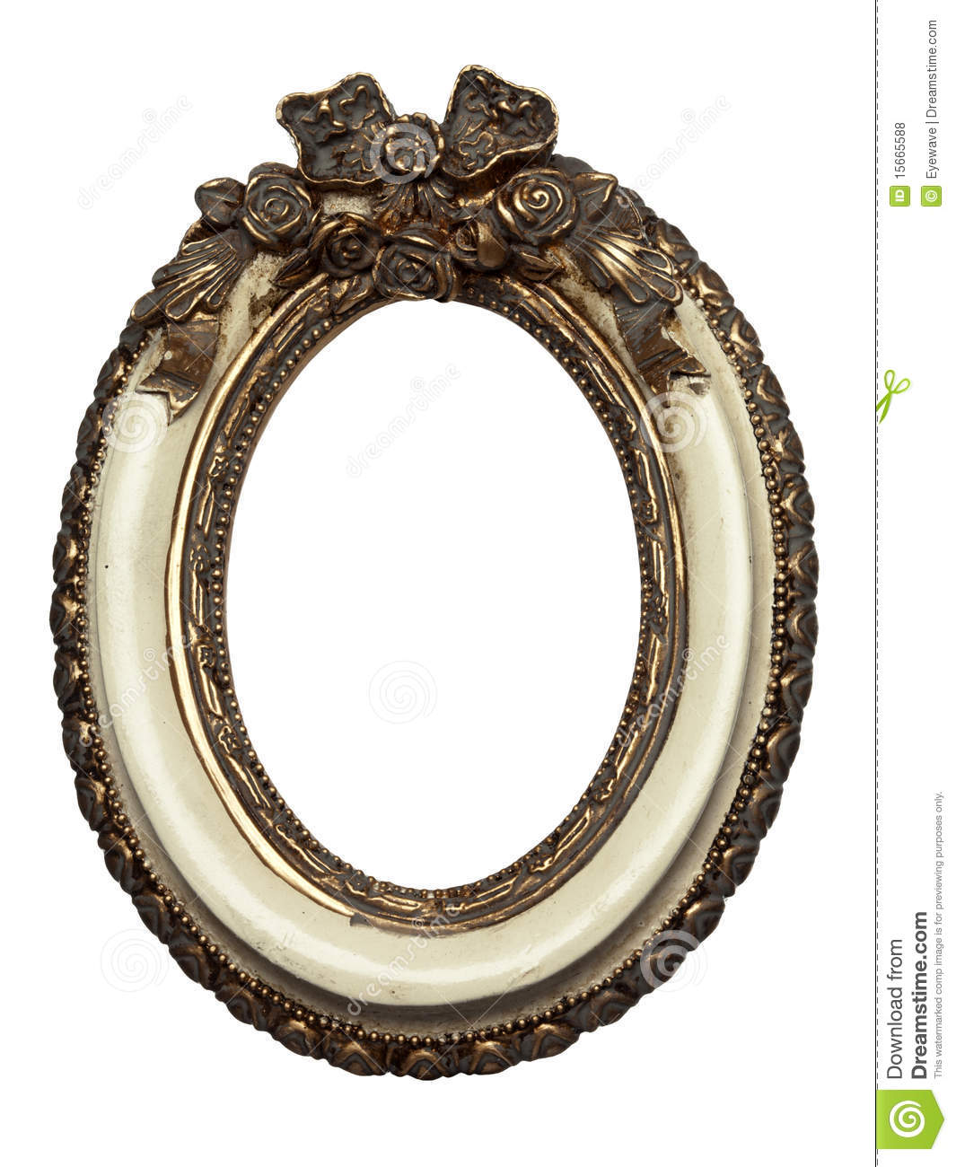 Oval Shape Baroque Picture Frame Stock Photo - Image of shape ...