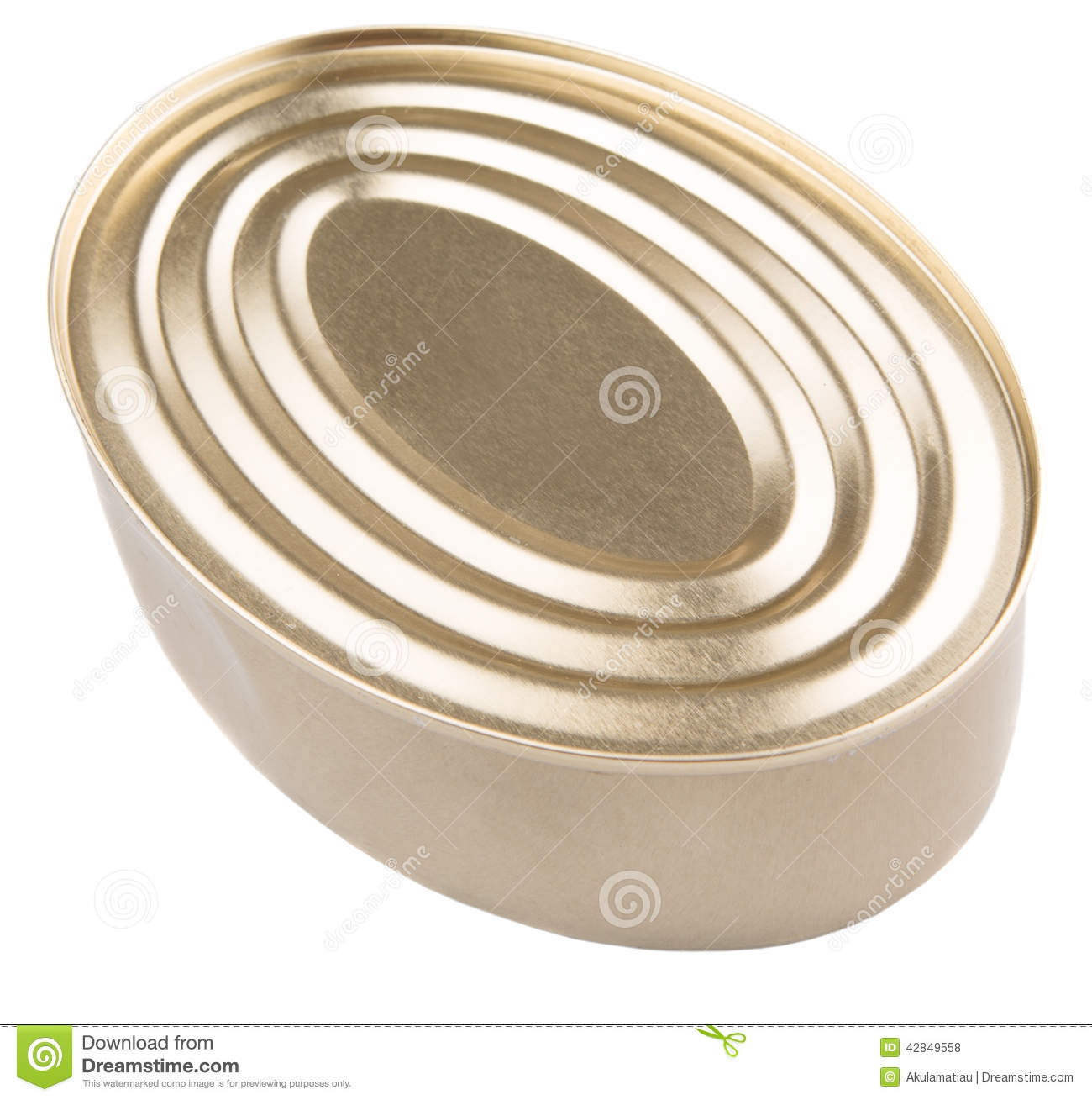 Oval Shape Tin Can Vi Stock Photo Image Of Object Side