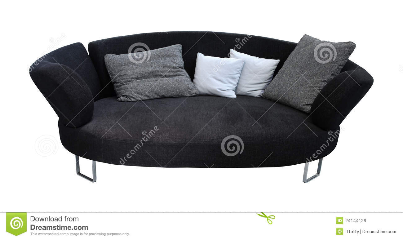 oval sofa royalty free stock image image 24144126. Black Bedroom Furniture Sets. Home Design Ideas