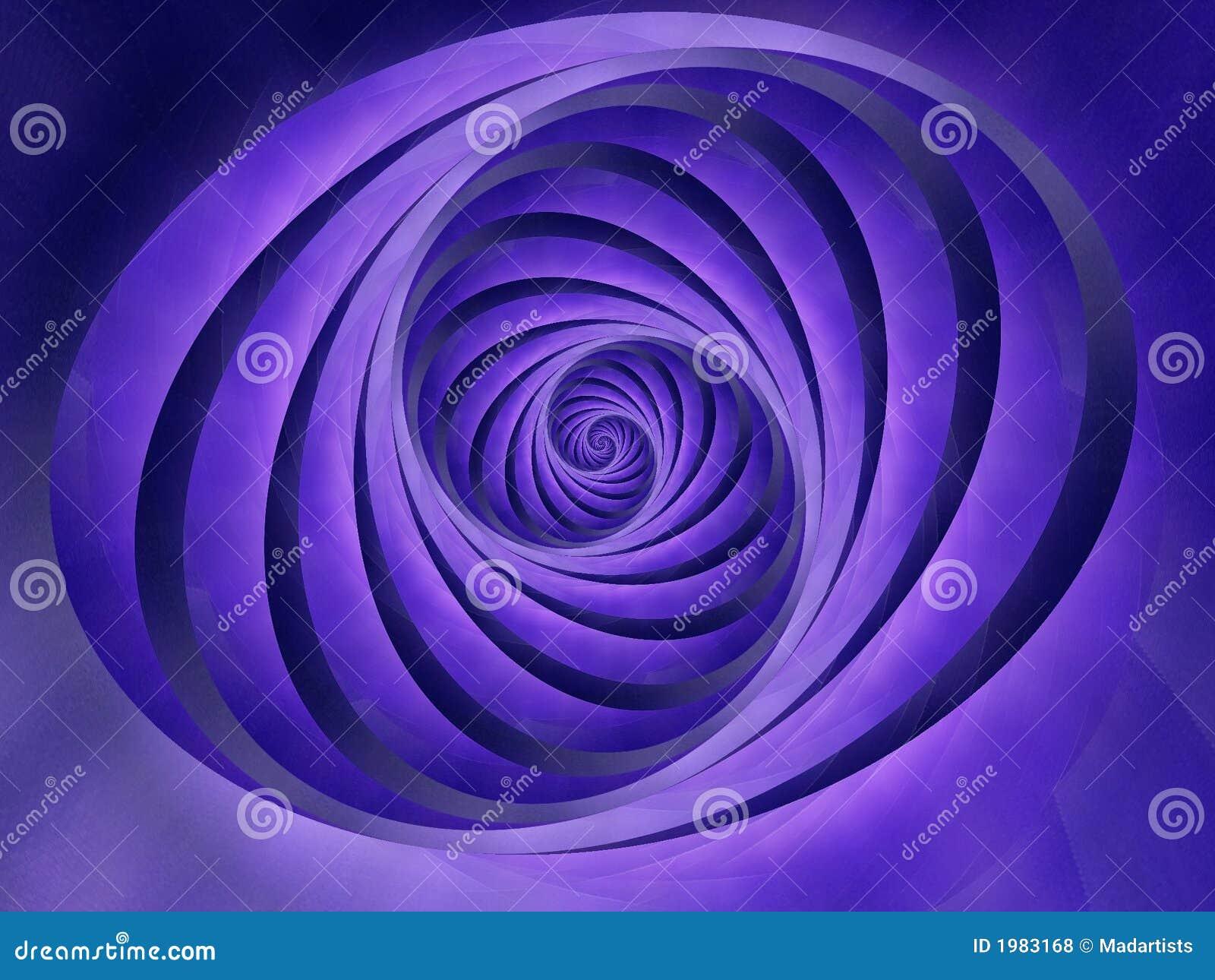 Oval Swirls Stripes Blue Color