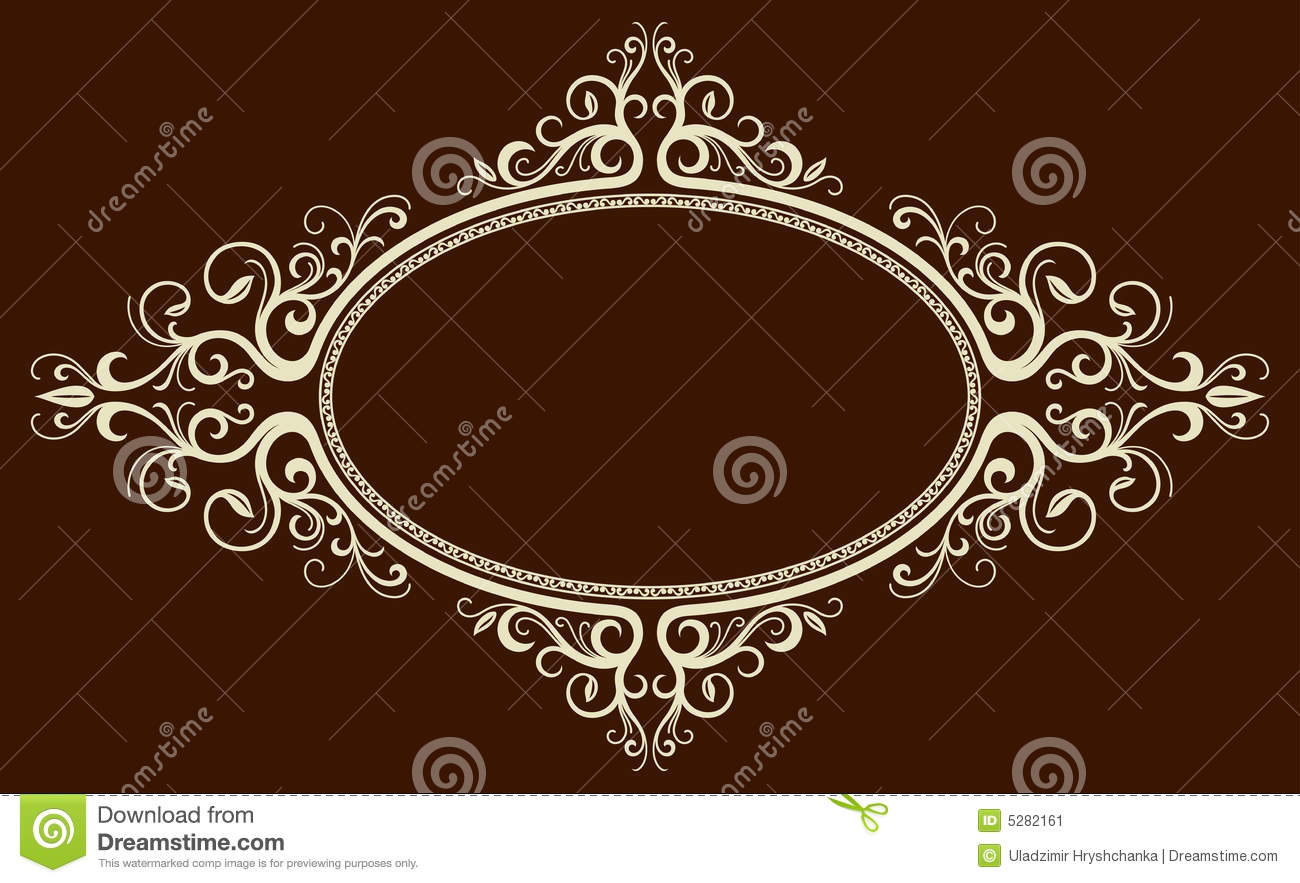 Oval Vintage Frame Stock Vector Illustration Of Classic