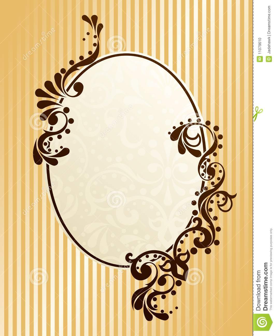 oval vintage sepia frame stock vector illustration of. Black Bedroom Furniture Sets. Home Design Ideas