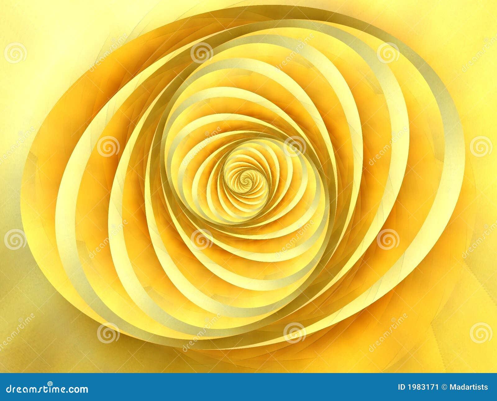 Oval wirbelt Streifen-Gelb