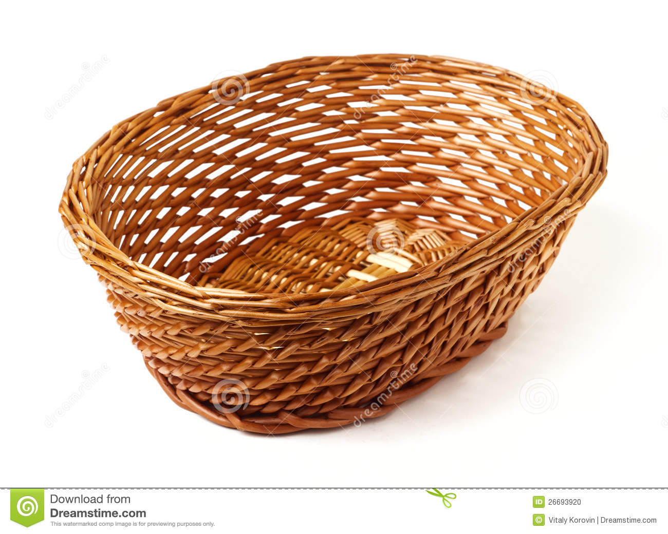 Oval Woven Reed Basket Stock Photo Image 26693920