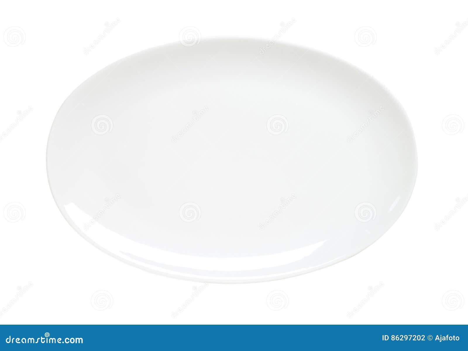 Ovale duidelijke witte schotel