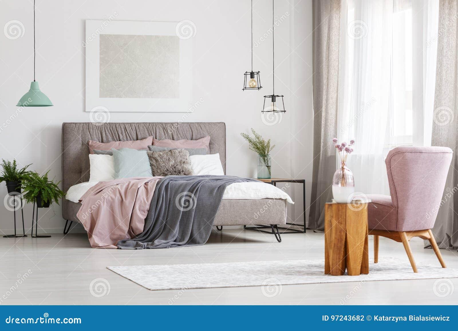 Ovannämnd säng för affisch