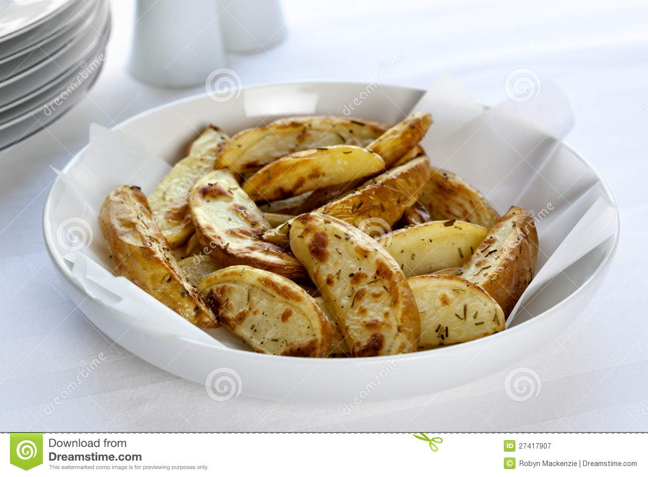 Oven Baked Potato Wedges Royalty Free Stock Photography - Image ...
