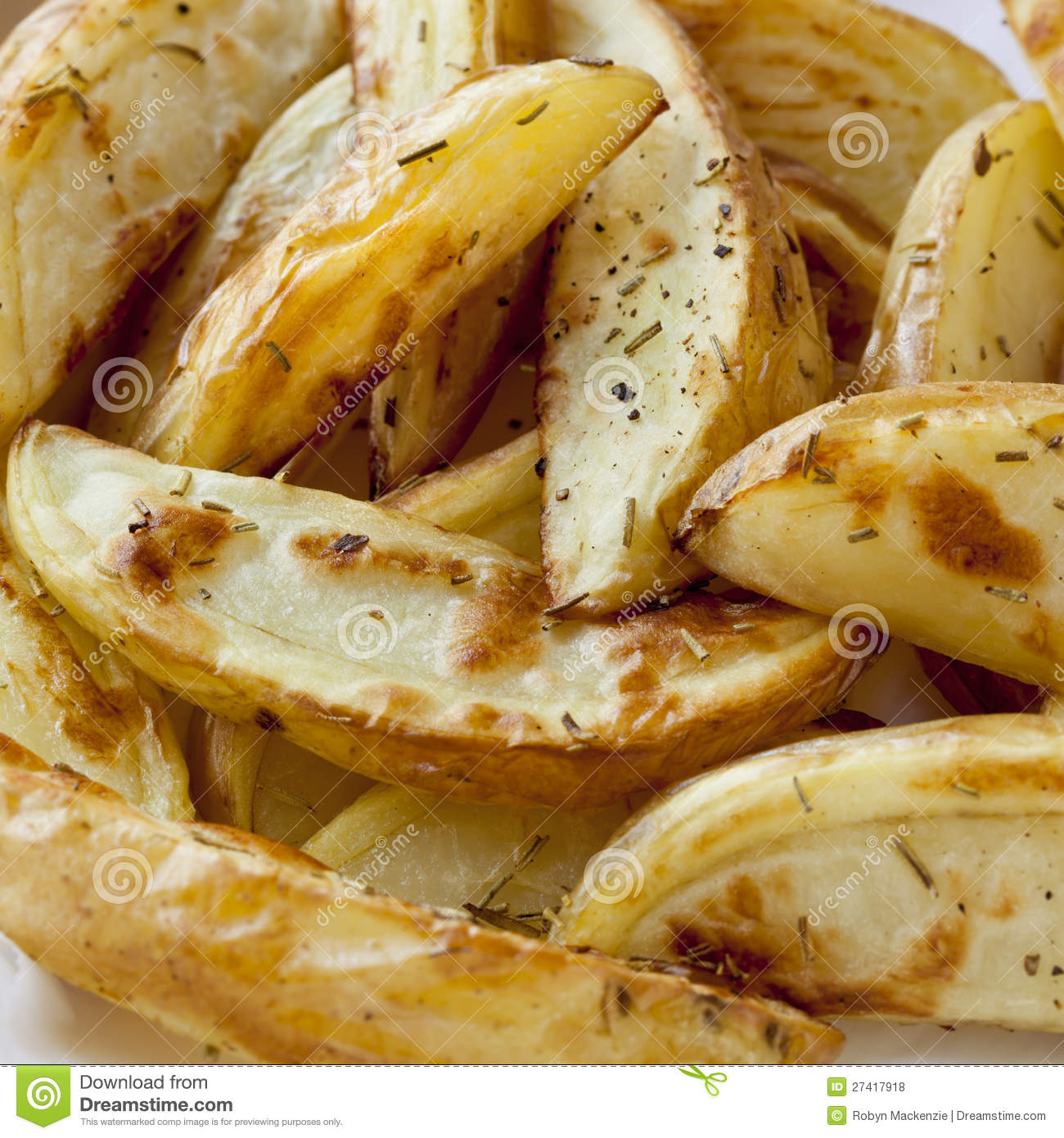 Oven Baked Potato Wedges Royalty Free Stock Photos - Image: 27417918