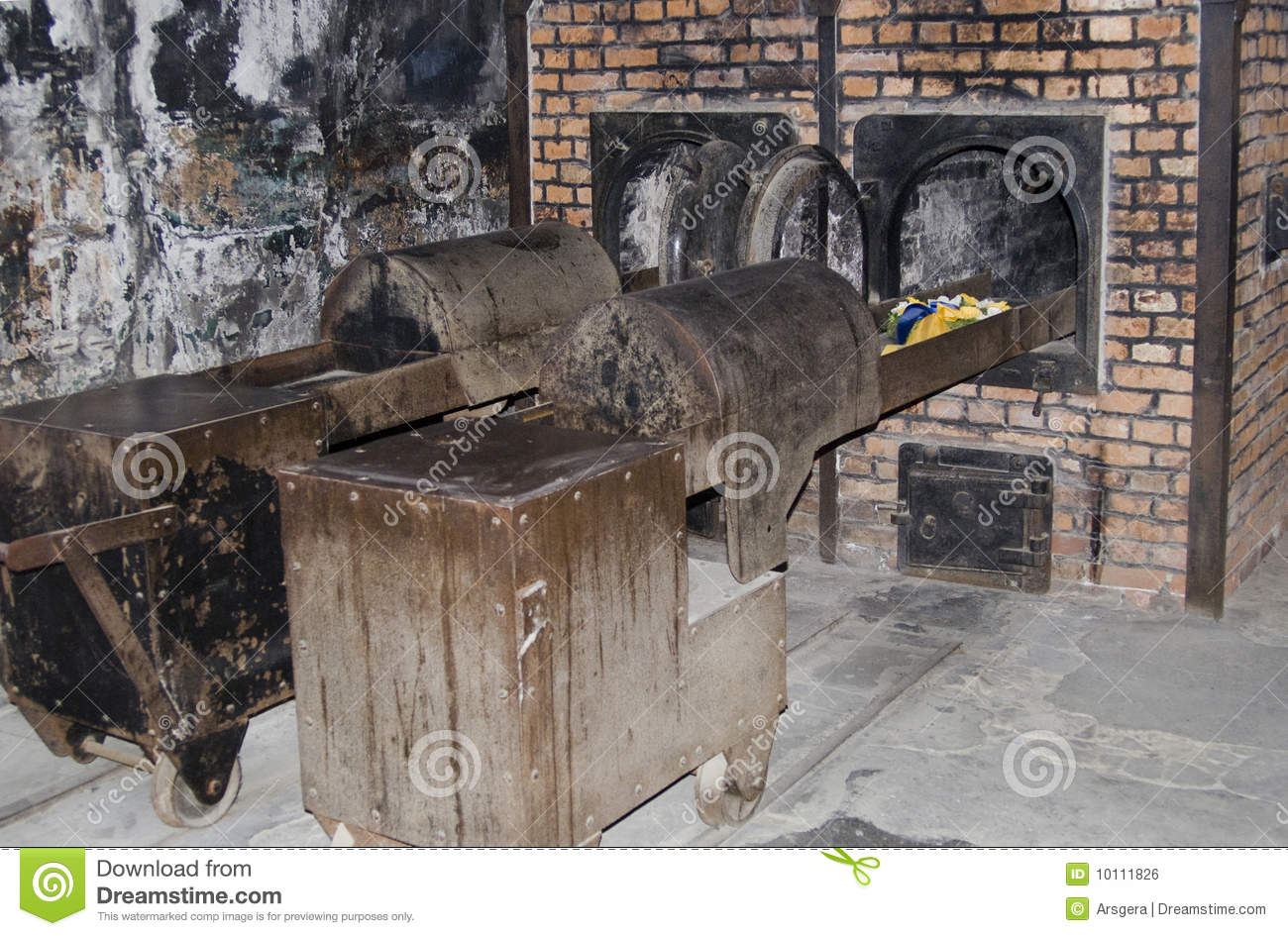 Oven for incineration in auschwitz birkenau camp for Auschwitz chambre a gaz